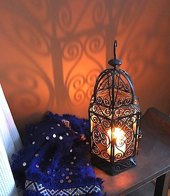Moroccan wrought iron lamp