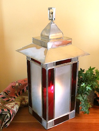 silver Moroccan candle lantern