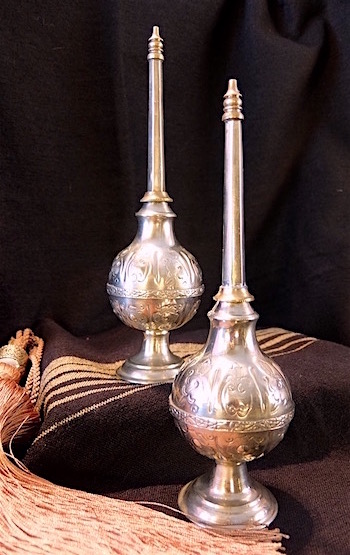 Vintage Moroccan silver perfume bottles