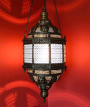 Traditional Turkish hanging lamp