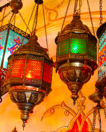 hanging Turkish lamps