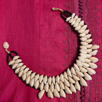 Moroccan cowrie necklace